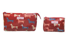 Dachshund Sausage Dog Weiner Dog Dackel Toiletry Wash & Cosmetic Bag Set BNWT
