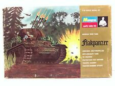 1969 Monogram 1/32 Scale Flakpanzer German WW II Plastic Model Tank Kit