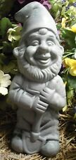 """latex only standing gnome with shovel  concrete plaster garden mold 9""""H x 4""""W"""