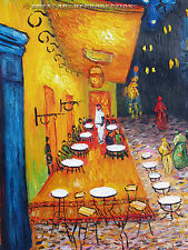 """Cafe Terrace at Night"",  Vincent van Gogh, Reproduction in Oil, 36""x24"""
