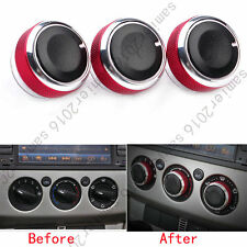 Fit For Ford Focus 2005-2013 Air Condition Panel Control Knob Buttons - 3pcs Red