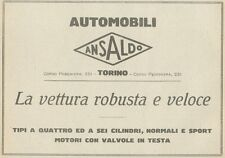 Z1751 Automobili ANSALDO - Pubblicità d'epoca - 1923 Old advertising