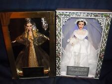 1999 Elizabeth Taylor In Cleopatra Barbie #23595 & Father Of The Bride Barbie.