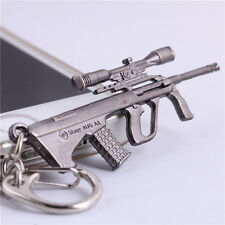 "Hot 2.56"" Cross Fire Mini AUG A1 Assault Rifle GUN Metal Model Keychain Keyring"