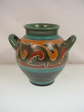 GOUDA DUTCH POTTERY 1920's ART DECO VASE #1849 LUBAL