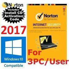 NEW Norton Internet Security AntiVirus 2017 3PC / 3USERS LATEST Version 22.5