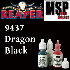 DRAGON BLACK 9437 - MSP 15ml 1/2oz paint pot peinture figurine REAPER MINIATURE