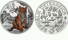3 EUROS AUSTRIA 2017 OSTERREICH OESTERREICH TIGRE TIGER EURO