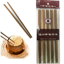 "BROWN Bamboo Chopsticks 9.5""Inch Wooden Re-usable Chopstick Pack of 10 pairs"