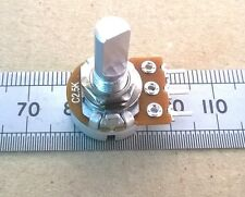 C2K5 2.5K Reverse Log Potentiometer with Flatted 6mm Shaft, Mono Anti-log Pot