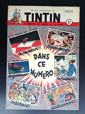 Journal Tintin N° 51 1952 TBE