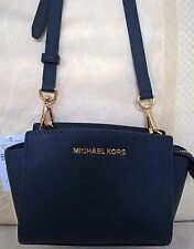 NWT Michael Kors Selma Mini Saffiano Leather Messenger Crossbody Bag Navy