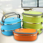 Hot Thermal Insulated Bento Stainless Steel Food Container Lunch Box 1/2/3 Layer