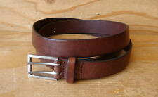90s Vintage GAP Brown Leather Belt & Buckle Womens Size 32 -Made In USA