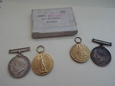 4 Medals World War I 1914 1918 & Great War for Civilisation Some Cancelled?