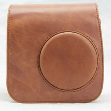 PU Leather Brown Camera Case Bag Holder For FUJIFILM Instax Mini7s Mini7 Special