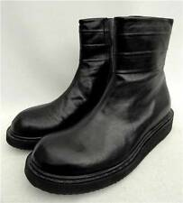 Men's RICK OWENS Black Leather Ankle Boots Shoes UK6 EU40 US7