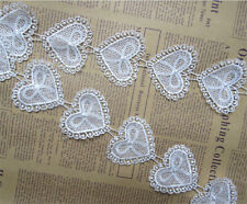 15pcs Vintage Hearts Bow Lace Edge Trim Ribbon Wedding Applique DIY Sewing Craft