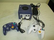 Nintendo GameCube Indigo Blue Purple Console Controller Bundle Tested Works