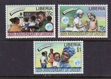Liberia # 1217-19 MNH 1996 UNICEF 50th Anniversary Education Medicine