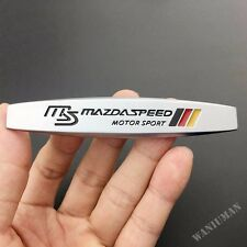 1 Pair Mazdaspeed Auto Metal Side Emblem Badge Decal Sticker Fit For Mazda 3 6