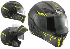CASCO MOTO MODULARE  AGV COMPACT MULTI SEATTLE MATT BLACK YELLOW GIALL NER TG S