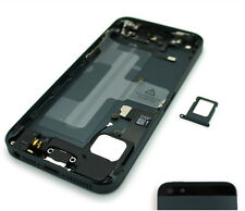 For iPhone 5 Space Grey Rear Housing With Parts Prefitted - Metal Back Cover