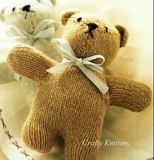 Knitting Pattern Cuddly Teddy Bear Baby Toy