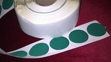 10 - 65mm  GREEN FELT BAIZE round DISCS self adhesive - protect, craft, cover