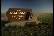 632001 Entrance Sign To Badlands National Park South Dakota A4 Photo Print