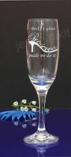 Personalised Engraved Champagne Prosecco Flute Glass Birthday HEN DO PARTY179