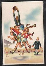 SPORT CALCIO SOCCER comic PC ITALY Circa 1940 3