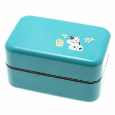 1pc Japanese Curacao Beckoning Cat Bento box  #280-307