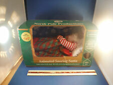 Vintage New Sleeping Santa Belly Moving Display