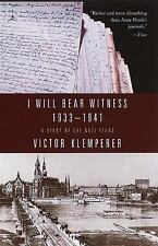 I Will Bear Witness: A Diary of the Nazi Years, 1933-1941 (Modern Library Paperb