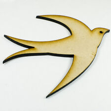 MDF Wood Wooden Shape / Shapes Bird Cutout for Craft Home Room Decor Kids