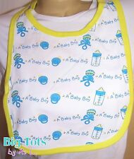 "Adult Baby ""A Baby Boy"" dribble bib * Big Tots"
