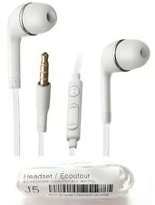 New White Flat Cable Earphone Earbuds Fits Samsung Galaxy S4 S6 S7 Note 3 4 5