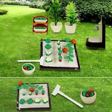 Miniature Gardening Vegetables DollHouse Furniture Outdoor Accessory Play Set