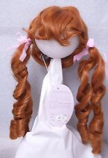 PLAYHOUSE Doll Wig ~ MELISSA ~ 14-15 CARROT RED - LONG Pigtail RINGLETS & BANGS