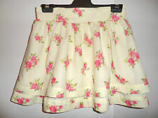 ABERCROMBIE & FITCH Size M - Lemon & Floral Print Tiered Frill SKIRT Approx 8-10