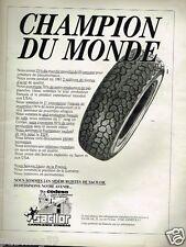 Publicité advertising 1984 La Siderurgie Sacilor Gandrange-Rombas