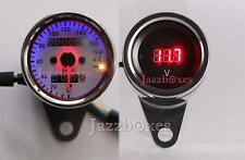 LED Backlit Speedometer Voltmeter For Harley Chopper Bobber Cruiser Touring