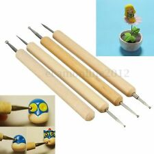 4Pcs Pro Ball Stylus Polymer Clay Pottery Ceramics Sculpting Modeling Tools