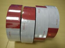 AAA 20' Foot Roll DOT C2 REFLECTIVE CONSPICUITY BUY TAPE RED WHITE FREE SHIPPING