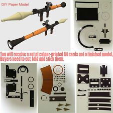 DIY Paper Model Gun 3D Military Toy RPG-7 Rocket Anti-tank Shoulder Laucher 1:1