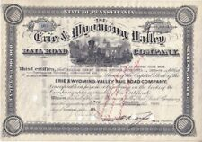 Erie & Wyoming Valley Railroad  1934
