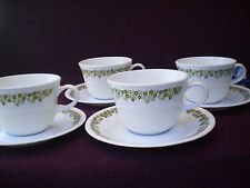 Corelle Dishes Spring Blossom Corning Centura Round Bottom Cups With Saucers 4 C