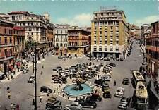 Italy, Roma, Piazza Barberini, Square, Platz, auto cars, bus trolley, fountain