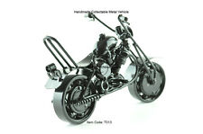 Touring Motorbike Motorcycle Model, Handcrafted Metal Collectable, Black, T013